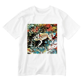Fantastic Frog -Plein Air Version- Washed T-shirts