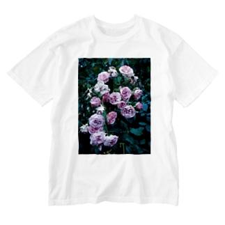 濡れた薔薇 Washed T-shirts