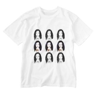 9 スクエア Washed T-shirts