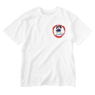 シベリアンハスキーとパグ Washed T-shirts