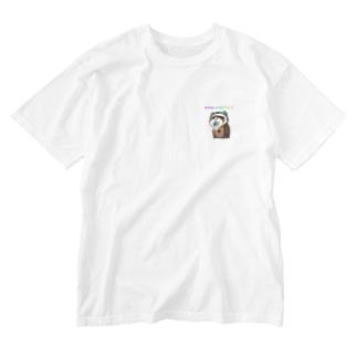 願い珠フェレット  Washed T-shirts