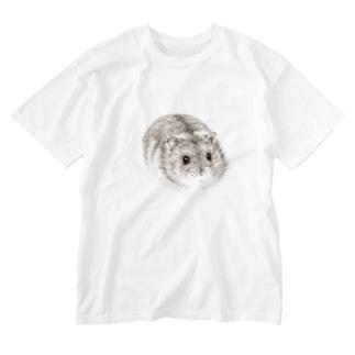 ジャンガリアンハムスターB Washed T-shirts