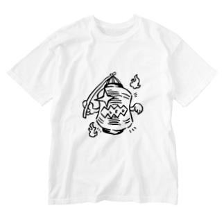 提灯お化け Washed T-shirts