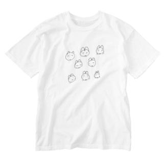 不満、怒り、落ち込み Washed T-shirts