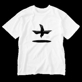 砂と水玉のBBBH「鳥と穴」 Washed T-shirts
