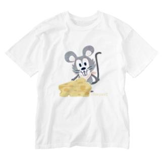 1926チーズはここに!いろいろA Washed T-shirts