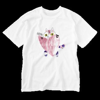カリンパの猫のニニ Washed T-shirts
