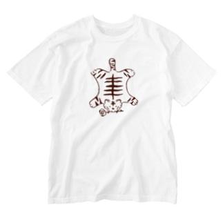 虎マット Washed T-shirts