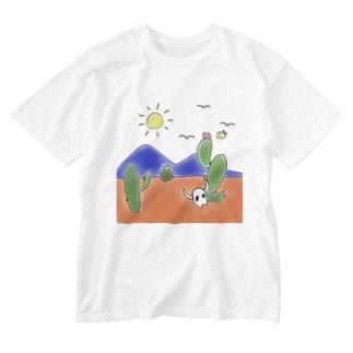 クマバチとメキシカンタイル Washed T-shirts