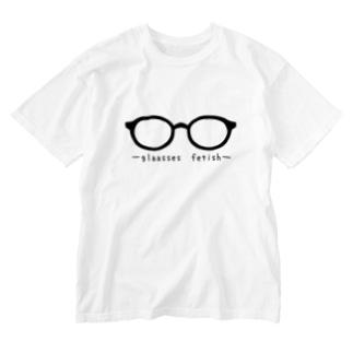 メガネ属性 Washed T-shirts