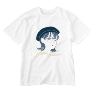 まるめがね Washed T-shirts