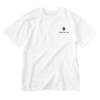 MHT_LOGO ー BLACK Washed T-shirts