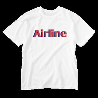 アメリカンベースのエアライン Washed T-shirts