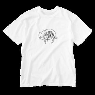 キシエリカの線画 ヤドカリ Washed T-shirts