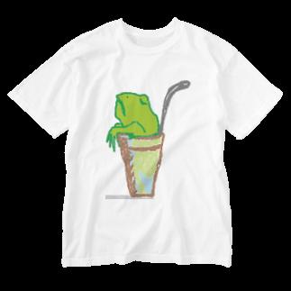 アメリカンベースのソフトドリンク・カエル Washed T-shirts