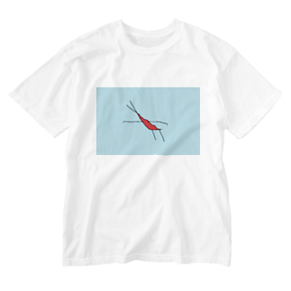 水草のエビ Washed T-shirts