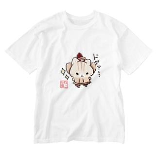 毘沙門にゃん Washed T-shirts