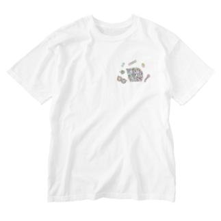 小腹がへった! Washed T-shirts