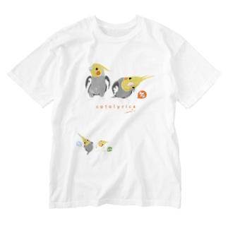 ノーマル オカメインコ ウルトラぶっ立ちとワキモモ Washed T-shirts