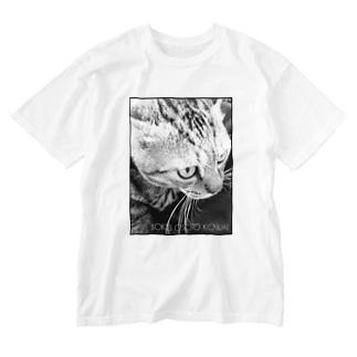 BOKU OSOTO KOWAI(黒枠) Washed T-shirts