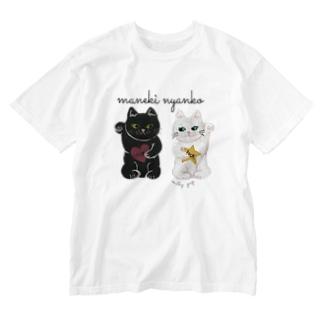まねきにゃんこ Washed T-shirts