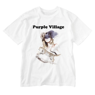 Hitoshi KurokiのPurple Village Washed T-shirts