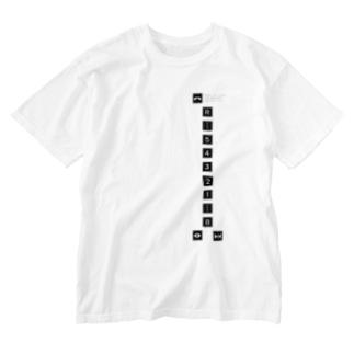 エレベーターボタン Washed T-shirts
