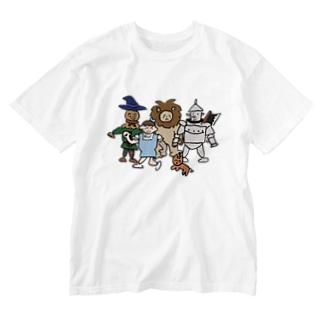 冒険に行こう Washed T-shirts