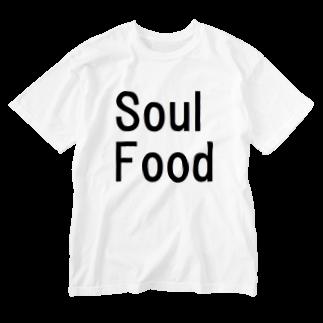 アメリカンベースのソールフード Washed T-shirts