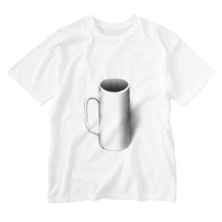 マグカップついてるよ Washed T-shirts