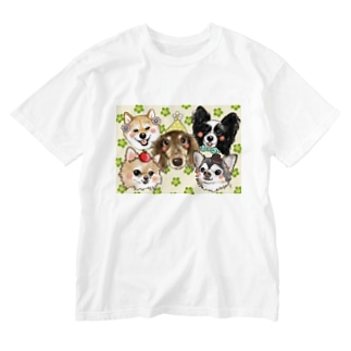 🐈aco🐕の春うららんドギーズ Washed T-shirts