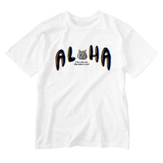 Daoji's FlagのALOHAギン Washed T-shirts