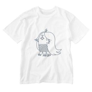 アマビエ(MONO) Washed T-shirts
