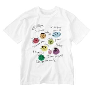 みんななかよし@Takako Washed T-shirts