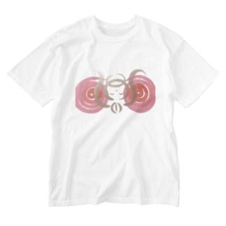 🍀森葉子グッズ🍀のお守り絵「ほっとけさん」透過2 Washed T-shirts