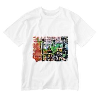 色めくトレイン Washed T-shirts