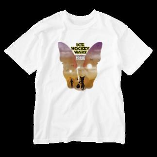 Hilo Diego Design Shopのボストンテリア ICE HOCKEY WARS(アイスホッケー ウォーズ)  Washed T-shirts