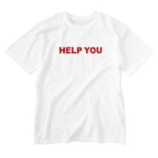 HELP YOU公式ストアのシンプルロゴ Washed T-shirts