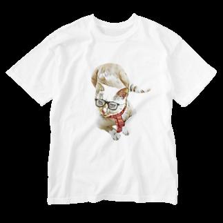 Rock catのメガネCAT Washed T-shirts