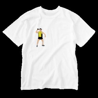MOBの砲丸投げ Washed T-shirts
