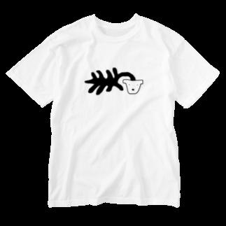 uの死シダ鉢犬 Washed T-shirts