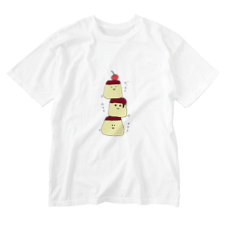ekubostoreのトリオ・ザ・プリン 「ゼッタイウマクイク!」 Washed T-shirts