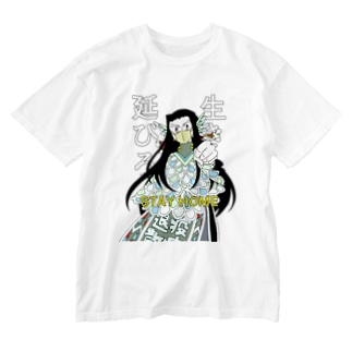 アマビエセーラさん背景透過版服色々 Washed T-shirts