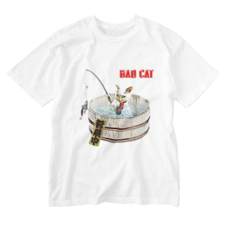 Rock catのBAD CAT 釣り Washed T-shirts