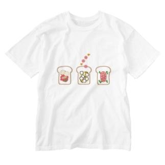 野菜inパン Washed T-shirts