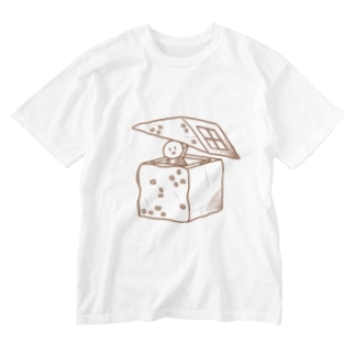 食パンおうち Washed T-shirts