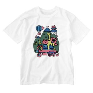 イカツイクルマ元気な色 Washed T-shirts