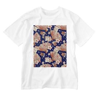 navy_marcのアジアンティーク Washed T-shirts