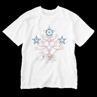 riya のWHITE ELEPHANT Washed T-shirts