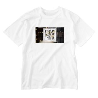きいろい灰皿Tシャツ Washed T-shirts